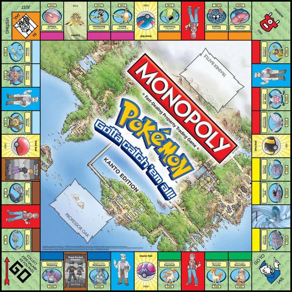 monopoly pokemon tablero