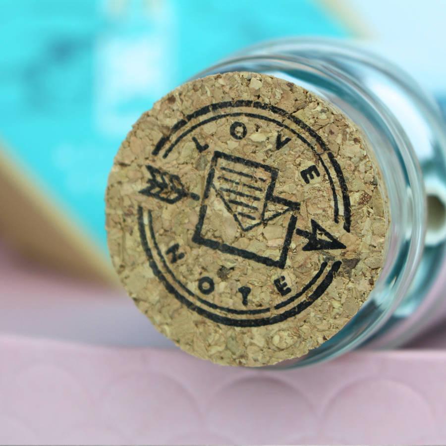 romantico regalo perfecto san valentin mensaje en una botella tarro corcho
