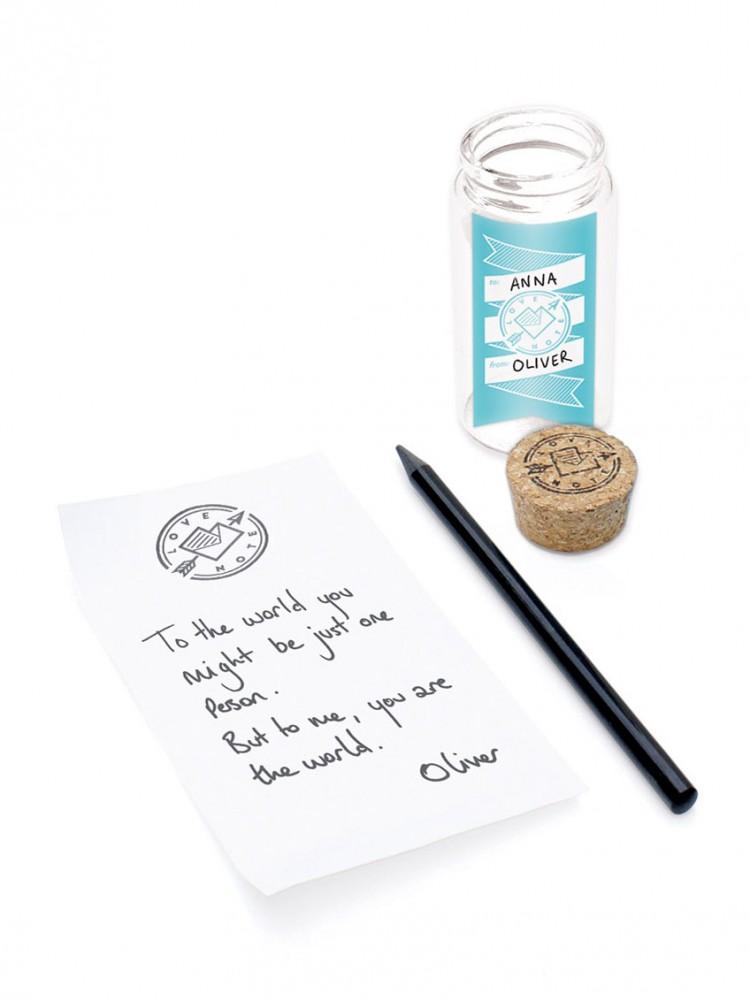 romantico regalo perfecto san valentin mensaje en una botella tarro