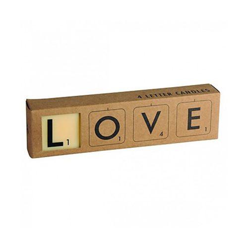 Velas Scrabble Románticas