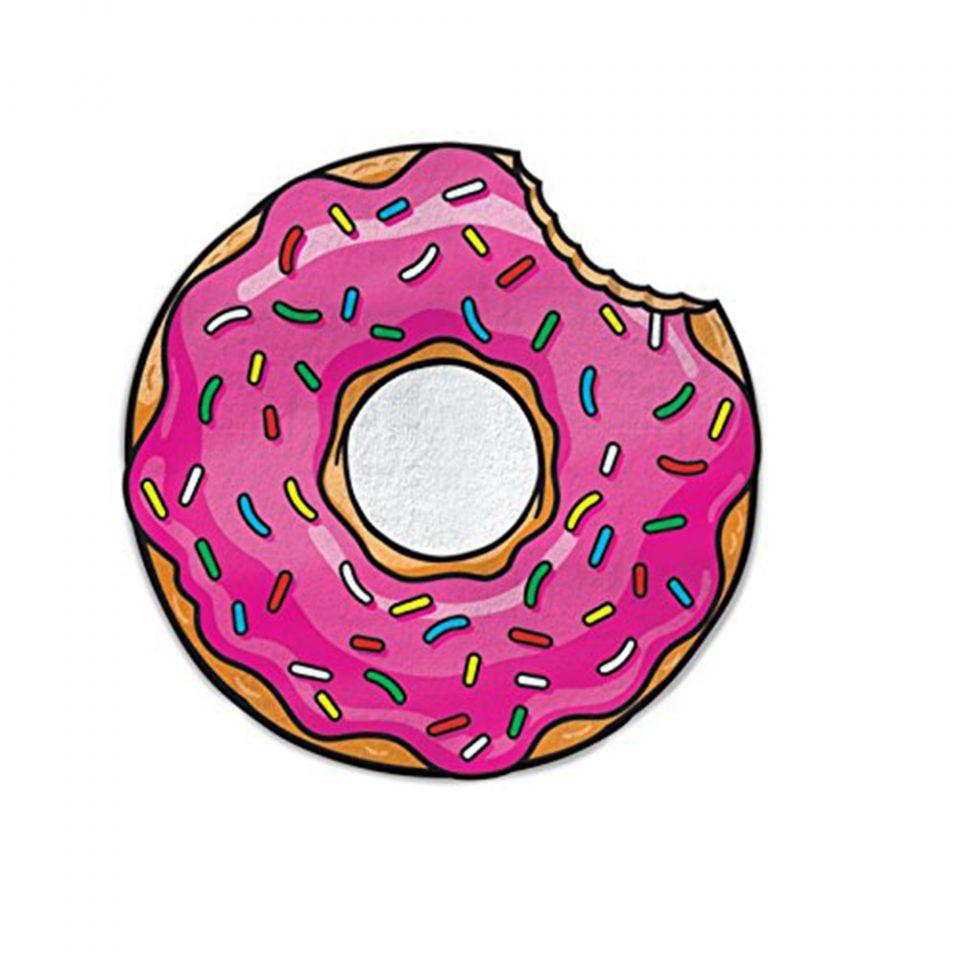 Toalla-de-playa-con-forma-de-donut,-BigMouth
