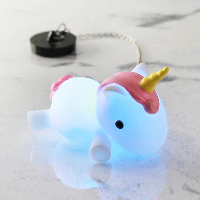 Tapón de baño unicornio multicolor 2