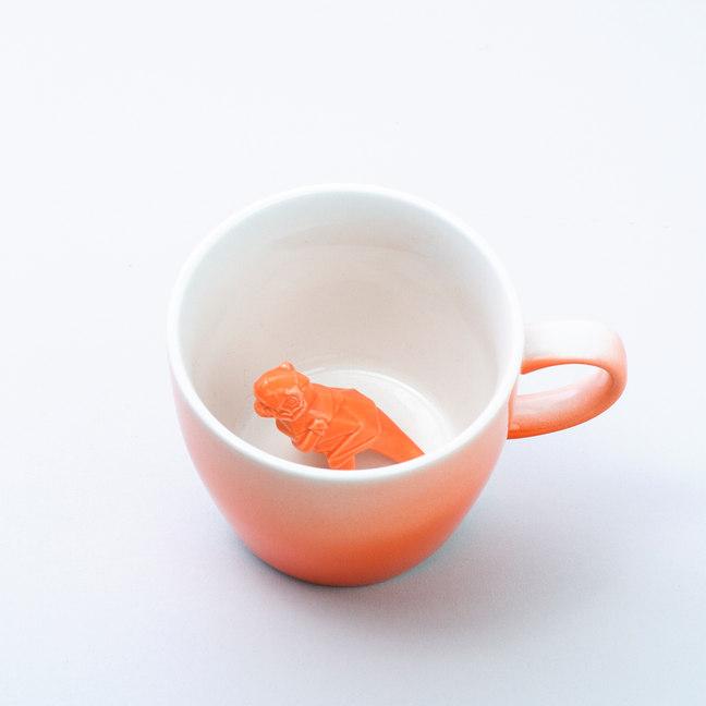 Taza dino mug naranja