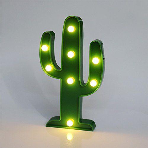 Lámpara de noche Leds Cactus