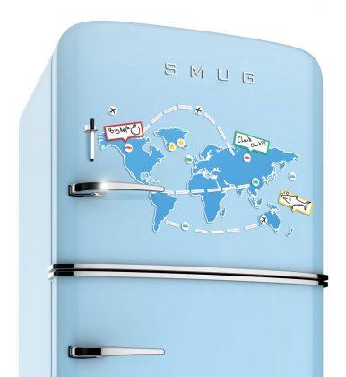Mapamundi Magnético - Marca tus viajes en el frigorífico