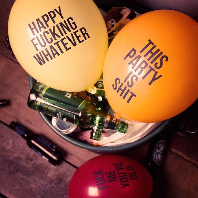 Globos para fiesta Abusive Balloons