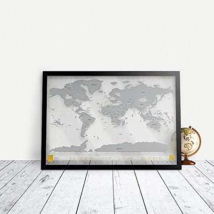 Mapa para rascar transparente