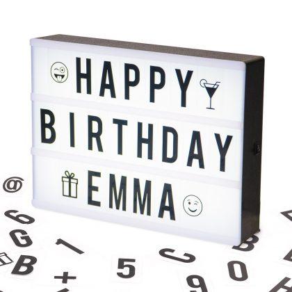 Caja de Luz Tamaño A5 - Letras, Emojis, Emoticonos y Símbolos