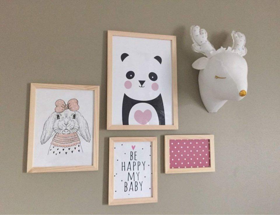 Cabeza de ciervo para habitación infantil o de bebé 5