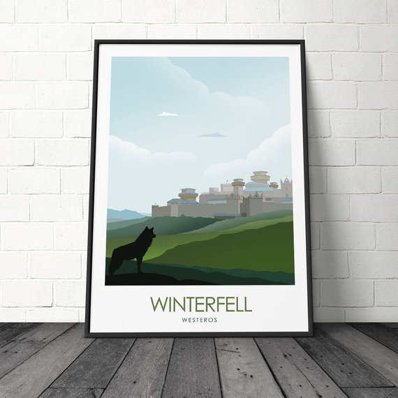 Posters juego de tronos – Winterfell, King's Landing y The Wall 3