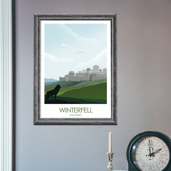 Posters juego de tronos – Winterfell, King's Landing y The Wall 4