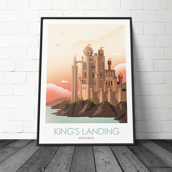 Posters juego de tronos – Winterfell, King's Landing y The Wall 5