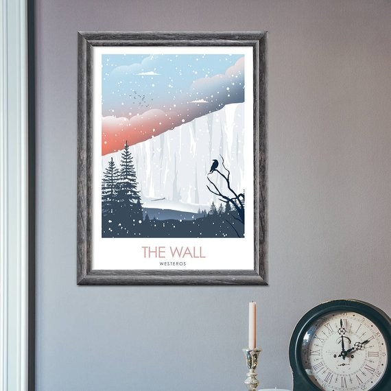 Posters juego de tronos – Winterfell, King's Landing y The Wall