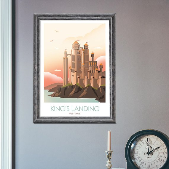 Posters juego de tronos – Winterfell, King's Landing y The Wall6