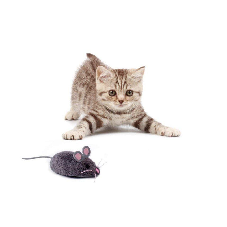 Ratón mini robot inteligente. Juguete para gatos 3
