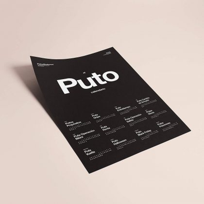 Puto calendario putos modernos