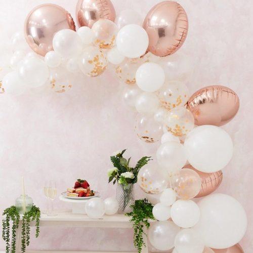 Pack de 70 globos de varios tamaños en dorado rosa para crear un arco de Ginger Ray