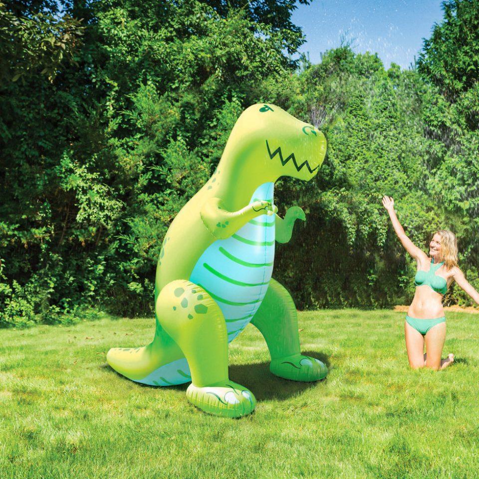 hinchable gigante de dinosaurio